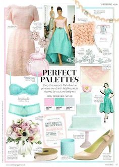 Beautiful magazine page from Wedding Magazine (source: Boux Avenue facebook)