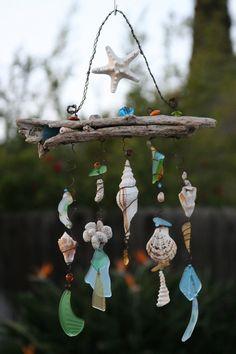 Beautiful sea shells and glass #Shells #Sesshell