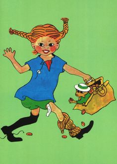 Pippi Longstocking by Ingrid Vang Nyman Circus Strongman, Comic Art, Comic Books, Pippi Longstocking, Heart Pictures, Save The Children, Pepsi, Fantasy World, Book Illustration