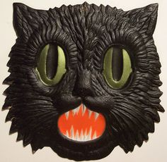 Black Cat Candle Holder…. 1950S