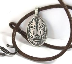 Wolf Necklace Mens Wolf Necklace Wolf Pendant by StormyRoad