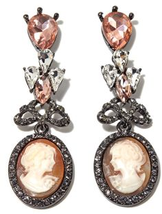 Look elegant in these magnificent drop earrings by AMEDEO!