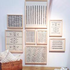 """x framed """"Feather"""" screen print on organic cotton flour sack material - art - gallery wall - frame - home decor Gallery Wall Frames, Frames On Wall, Framed Wall Art, Art Gallery, Let's Make Art, Diy Art, Burke Decor, Wall Art Designs, Modern Wall Art"""