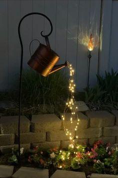 Outdoor Fairy Lights, Led Fairy Lights, Can Lights, Outdoor Lighting, String Lights, Backyard Lighting, Backyard Party Decorations, Light Decorations, Diy Yard Decor