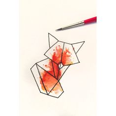 tattoos fox geometrical - Google zoeken More