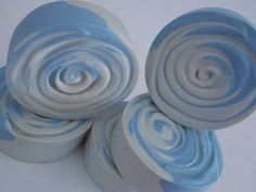 New Blue Swirl soap rounds!