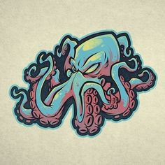 Like, 17 comments – Craig Patterson (Craig Patt … – Graffiti World Octopus Drawing, Octopus Tattoo Design, Octopus Art, Graffiti Drawing, Graffiti Lettering, Graffiti Tattoo, Graffiti Cartoons, Graffiti Characters, Kraken Art