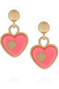 Marc by Marc Jacobs Heart Brass and Acetate Earrings, $68, available at Net-A-Porter.