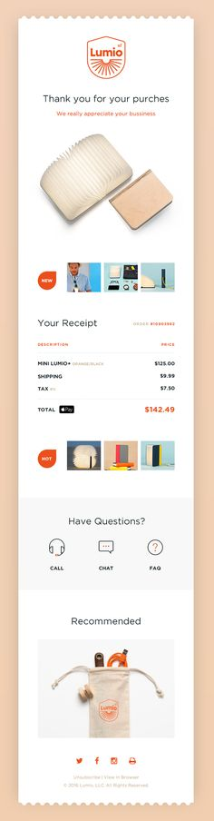 Product Recommendation Template Post-Purchase emails Pinterest - email receipt template free