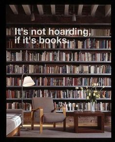 Funny memes about book hoarding and dreaming of a bigger home library.