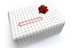 Word search wrapping paper!  Cool idea