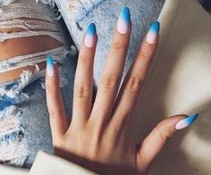#ombrenails #blue #trendy #nailart