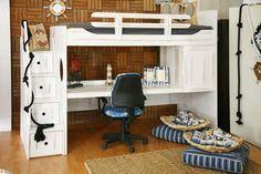 """Σύνθεση """"Ιόνιο Νο1"""" Kids Bedroom, Corner Desk, Loft, Architecture, Bedrooms, Furniture, Design, Home Decor, Corner Table"""