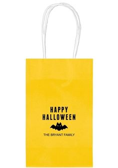 Happy Halloween Bat Medium Twisted Handled Bags