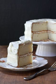 Lemon layer cake with lemon cream cheese frosting. - @MerryGourmet