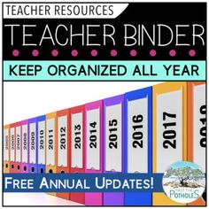 Teacher Binder - Organize your Professional Files by Past The Potholes