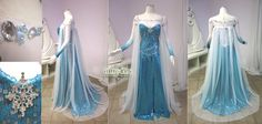 This gorgeous Elsa Cosplay Frozen Dress by Lillyxandra on DeviantArt Elsa Cosplay, Frozen Cosplay, Frozen Costume, Cosplay Costumes, Disney Costumes, Frozen Wedding, Costume Carnaval, Frozen Elsa Dress, Diy Couture
