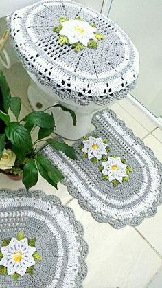 Beading Patterns Free, Free Pattern, Bathroom Mat Sets, Bathroom Crafts, Tatting, Knit Crochet, Kids Rugs, Wool, Floral