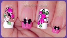 Cute Nails, My Nails, Merry Christmas Gif, Natural Acrylic Nails, Butterfly Nail Art, Manicure And Pedicure, Nail Art Designs, Lily, Make It Yourself
