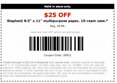 LIKE/REPIN Staples Coupons 25 Off Paper. Endless amounts of printable coupons are all over this site.