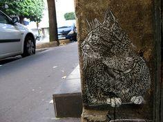 aaahhhh! street art kitty!