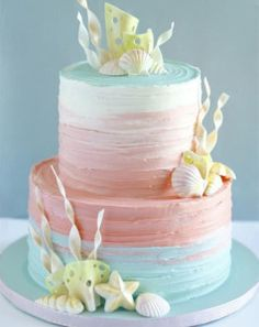 Prettiest Buttercream Ombre Cake Idea