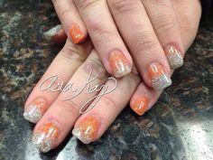 Glitter nails freehand @asiakaybeauty @asianailsandhair
