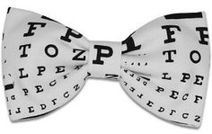 Amazon.com: Swagger & Swoon Eye Test Chart Bow Tie: Clothing #optometry #bowtie #eyechart