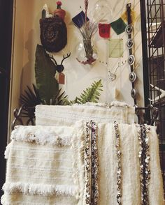 pick up a moroccan wedding blanket and stay cozy through the storm ✨ http://shopblackwater.com/collections/home-magic/products/vintage-moroccan-wedding-blanket-handira-no-9