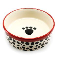Precious Tails Heavy Ceramic Dog Bowl / Cat Bowl Leopard Print (7 Inch – lightaccents.com