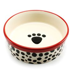 Precious Tails Heavy Ceramic Dog Bowl / Cat Bowl Leopard Print (7 Inch – lightaccents.com