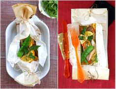 Ocean Perch Papillote with Ginger, Lemon and Julienned Vegetables.  #Recipes