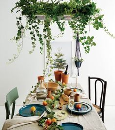 Waterfall For Home Decoration Product Interior Rugs, Cafe Interior, Interior Design Living Room, Interior And Exterior, Interior Decorating, Hanging Plants, Indoor Plants, Flower Shop Interiors, Dining Table Lighting