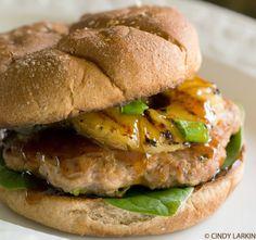 Teriyaki Turkey Burgers. Clean eating recipes.