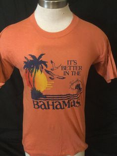 Vintage 1980's Tourist T-Shirt Surf Beach 50/50 Bahamas by 413productions on Etsy