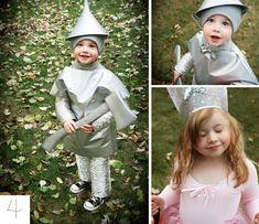 top ten handmade halloween costumes, tin man and glinda costumes, wizard of oz, diy