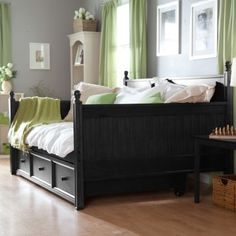 Casey Daybed - Black - Full - Daybeds : Guest bed idea! Full size ...