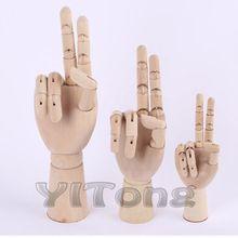 """Бесплатная доставка 8 """"20см Модель рук Мода Дизайн Деревянный человеческой руки Игрушка для рисования Гибкие модели Художественные принадлежности (Китай (материк))"""