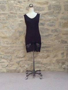 A Postcard From Brighton Sammie Long Sleeveless Vest Top with Lace Hem - LOVE LAYERS & BASICS