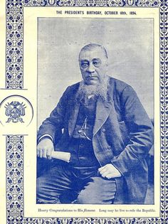 President Kruger on his Birthday, October 1894