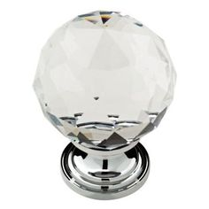 Delta 1-3/16 in. Chrome Faceted Crystal Knob (4-Pack)-P30779C-CHC-U1 at The Home Depot upstairs bath