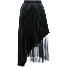 Christopher Kane Black Tulle Lame Skirt (€1.435) ❤ liked on Polyvore featuring skirts, black, layered skirt, layered tulle skirt, lame skirt, asymmetrical hem skirts and high waist skirt