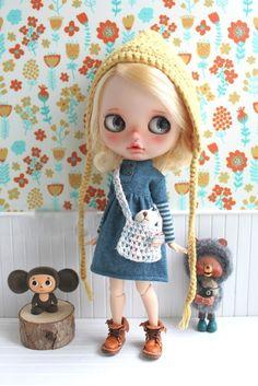 Amazon | (ドーリア)Dollia ブライス 1/6ドール用 アウトフィット レイヤード風 ワンピース アースブルー 切り替え ボーダー ネオブライス ドール 人形 | おもちゃ 通販