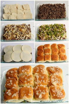 These Philly Cheesesteak sliders are a great football party food idea. - These Philly Cheesesteak sliders are a great football party food idea. They are great for feeding a - Think Food, I Love Food, Philly Cheese Steak Sliders, Philly Cheese Steak Sandwich Recipe Easy, Chicken Sliders, Oven Sliders, Chicken Philly Cheesesteak, Roast Beef Sliders, Philly Cheese Steak Seasoning