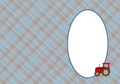 Blue Plaid and Tractor Insert on Craftsuprint - View Now!