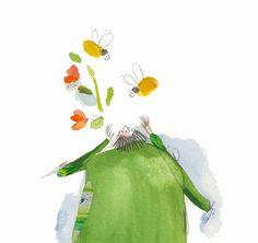 Spring illustration bee illustration by vickyalvarezart on Etsy