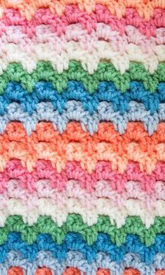 {Crochet} Spiked Granny Rib Stitch Pattern