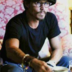 "Ani & Will on Instagram: ""Intelligent looking Johnny Depp enjoys his cuppa. #tea #teaculture #teaparty#Johnny Depp"""