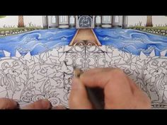 Part 5 - how to color stones, grass and a fence - enchanted forest - prismacolor pencils - YouTube
