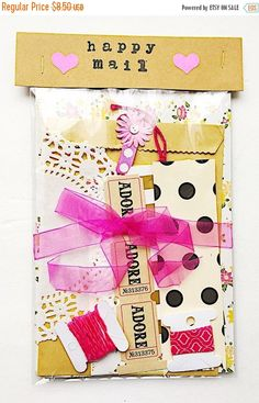 On Sale Happy Mail Mini Kit snail mail paper by LostArtRevived